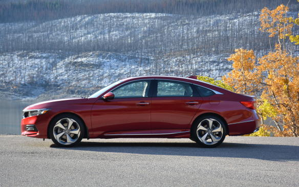 <p>Turn the radio off and listen to the silence of the all-new Accord. Even with a CVT at its disposal, this mid-size sedan takes a quiet sanctuary to greater heights. It soaks up bumps on the road, and when there's a need to brake hard, that happens quietly too. Some of this newfound sophistication is aided by a new 'L arm' front suspension that reduces road vibration into the body.</p>