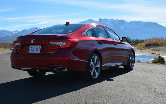 <p>Unless it's a Honda Civic or Ford F-150, it's rare to see a vehicle top the sales chart ahead of a generational change. But, as of August 2017, the Honda Accord is Canada's mid-size sedan sales leader with 10,243 units sold, 1,378 units more than the Toyota Camry – its most direct competitor, which has also gone through a recent major makeover. The Ford Fusion is a distant third in class, with 7,189 units sold.</p>