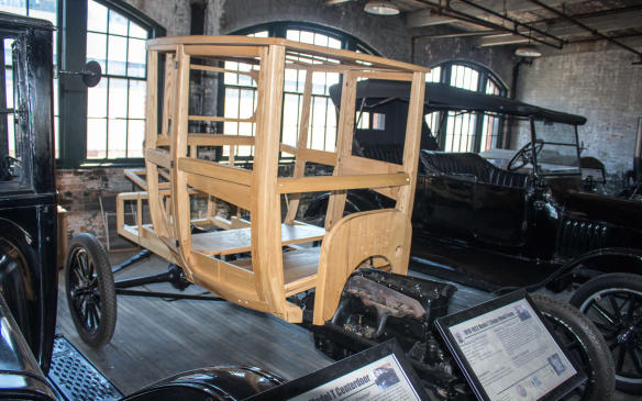 <p>Throughout the lifespan of the Model T and well into the 1930s, long after auto body surfaces were made of sheet metal, their core structures continued to be made of wood. Which is why Henry Ford, a keen proponent of vertical business integration, owned and operated extensive forestry operations in northern Michigan.</p>