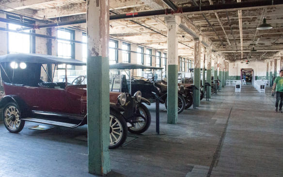 <p>There's nothing left of the original factory equipment today asthe building has been through multiple uses since then, but thestructure itself remains intact.</p>