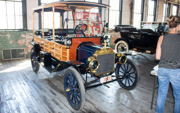 <p>From its very beginning, the Model T was available in multiple body configurations, later to include this depot hack – the forerunner of the station wagon, which would continue the wood-sided construction into the post-WWII era and the woodie look much longer.</p>