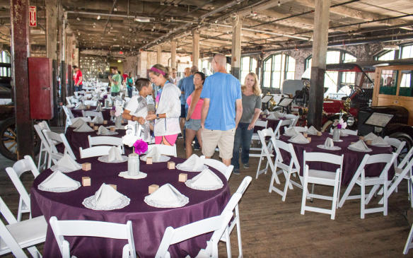 <p>Now, as well as being a museum, the plant serves as a private event location. During our visit, it was being set up for a wedding reception.</p>
