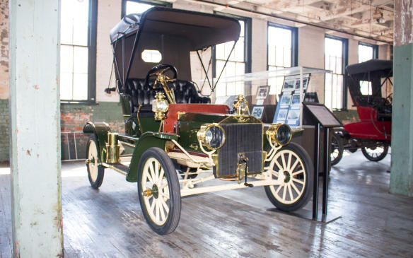 <p>The Model S, built in Roadster and Runabout form, was the last model in sequence before the introduction of the Model T, which shared many of its design elements. Model S Roadsters were among the last models produced during the summer of 1908 as Ford retooled for the Model T.</p>