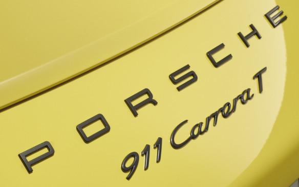 <p>Porsche 911 Carrera T script badge</p>
