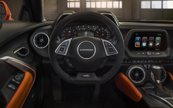 <p>2018 Chevrolet Camaro Hot Wheels interior</p>