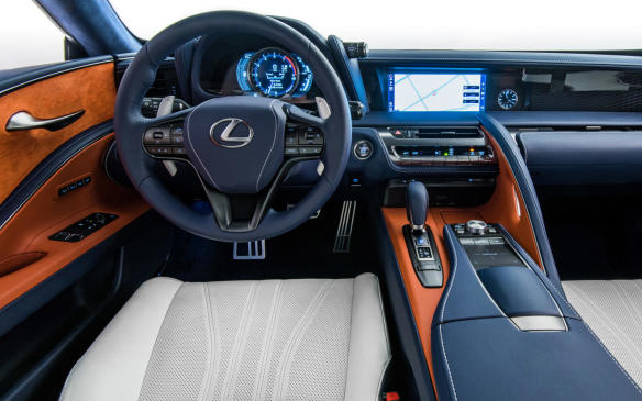 <p>2018 Lexus LC Inspiration Series interior</p>