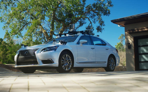 <p>ToyotaResearch Institute autonomous test vehicle</p>