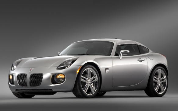 <p>The sole engine at the outset was a 177-hp, 2.4L DOHC four-cylinder tied to a close-ratio five-speed manual transmission or optional five-speed automatic. The Solstice GXP arrived for 2007 complete with a rip-snorting, 260-hp 2.0L turbocharged four, the first GM engine to adopt direct injection. The Saturn Sky made its debut in 2007, too, with revised styling that would do double-duty in Europe as the Opel GT. A Solstice coupe (shown here), with its removable roof panel, joined the lineup for 2009, but alas, it was too late to turn GM's fortunes around. The General shuttered its Wilmington, Delaware, plant in July 2009 and euthanized the Pontiac and Saturn brands.</p>