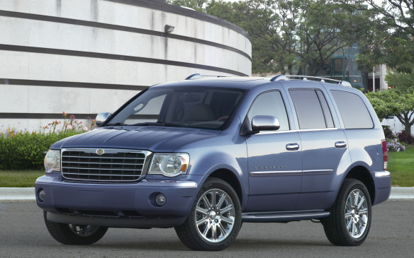 <p>Keen to exploit the lucrative sport-utility market, DaimlerChrysler conjured up another big SUV in the form of the Chrysler Aspen for 2007, based on the closely related Dodge Durango. As the first truck-based SUV marketed under the Chrysler brand, it was configured for eight occupants and came only in the top-drawer Limited trim, complete with Cadillac-grade chrome trim. The Aspen mined the richest vein in the segment by appealing to luxury buyers with towing needs, offering them the storied Hemi V-8 engine as a brawny, optional powerplant. True to its mission, it offered exceptional towing capacity, maxing out at 4068 kg.</p>