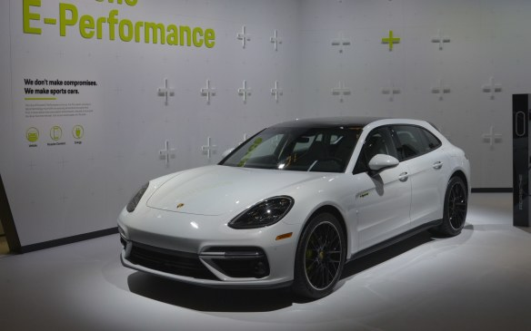 <p>Porsche's fourth new model was the Panamera Turbo S E-Hybrid Sport Turismo – a wagon-like variant of its 680-horsepower plug-in hybrid family hauler with the ability to travel up to 48 km (30 miles) on electric power alone.</p>