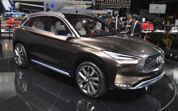 <p>Infiniti has already released photos of its redesigned QX50 crossover, which will make its debut in LA. The production model, which will be built on an all-new platform, looks very much like the QX50 concept unveiled in Detroit at the beginning of the year. It will be the first vehicle to offer Infiniti's new high-tech, variable-compression engine and will offer Nissan's ProPilot semi-autonomous driver assist system for highway driving.</p>