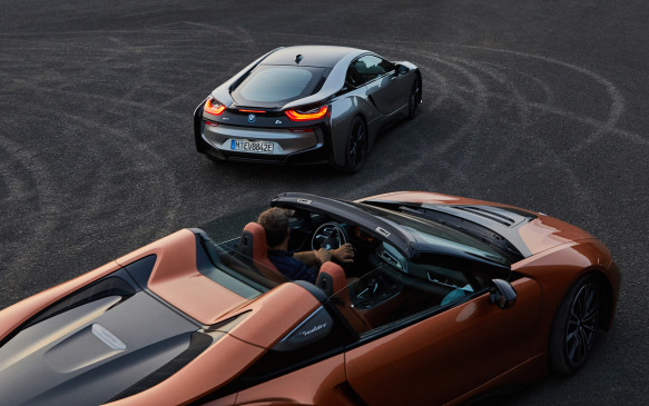 """<p>BMW has teased us with a roadster version of its <a href=""""https://autofile.ca/en-ca/car-photos/up-close-and-personal-with-bmws-i8-hybrid-sports-car"""">i8 plug-in hybrid sports car</a> since the sexy coupe's introduction in 2014. Now it appears the teasing is over, with a production version expected to go on sale early in 2018. It's expected to have more pure-electric range than the nominal 24 km of the current coupe, as well as styling tweaks reminiscent of the i8 Concept Spyder shown here.</p>"""