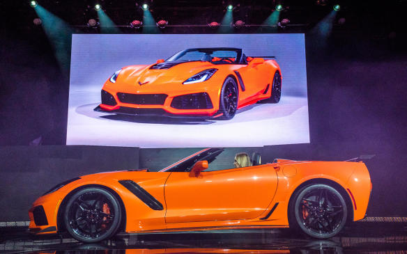 """<p>Chevrolet launched its hyper-powered <a href=""""https://autofile.ca/en-ca/auto-news/chevrolet-introduces-most-powerful-zr1-ever-in-dubai"""">2019 ZR1 in Dubai</a> earlier this month, in coupe form. It's expected to reveal a convertible version of the 755-horsepower supercar, the fastest, most-powerful Corvette ever, in LA.</p>"""