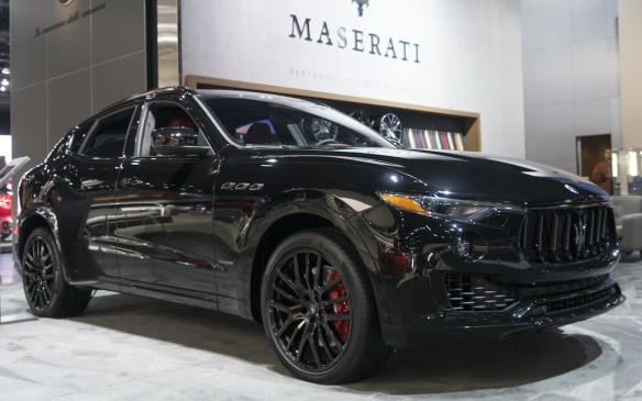 <p>2018 Maserati Levante with Nerissimo package</p>