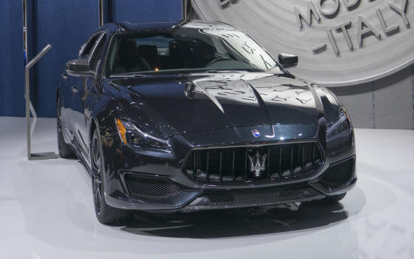 <p>2018 Maserati Quattroporte with Nerissimo package</p>