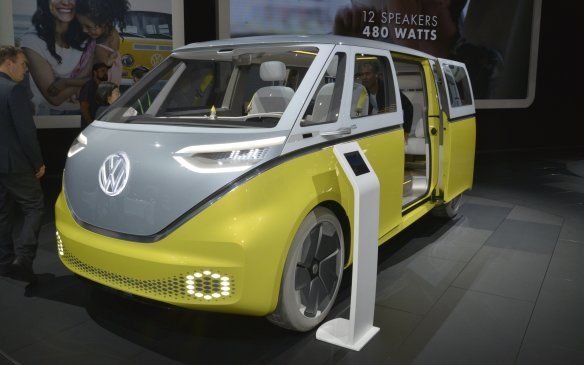 <p>While it may not fit the traditional concept of automotive beauty, the Volkswagen I.D. Buzz Concept is a handsome design that pays homage to the brand's roots in a thoroughly modern context. First shown at the 2017 North American International Auto Show in Detroit, a version of the all-electric Buzz is expected to go into production circa 2022.</p>