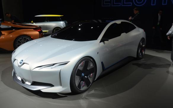 <p>The BMW i-Vision Dynamics was first shown in Frankfurt but it made its North American debut in Los Angeles. Eventually, a production variant could fit in-between the i3 and i8 as an i5, but for now we can bask in its weirdness. It has many pros in terms of BMW's electrification vision, but its beauty lays in the eye of the beholder featuring a chrome grille and razor thin LED headlights that add more questions than answers. The rest of the package comes together well including a glass roof that stretches from the the A-Pillar to its back side. According to BMW, it can go up to 600 kilometres on a single charge and do a 0-100 km/h sprint in less than four seconds with a top speed of 201 km/h.</p>