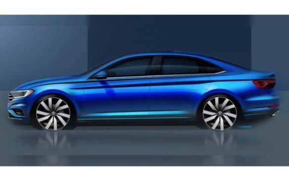 <p>2019 Volkswagen Jetta sketch</p>