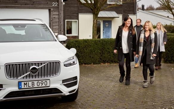 <p>Volvo Drive Me project participants Hain Family</p>