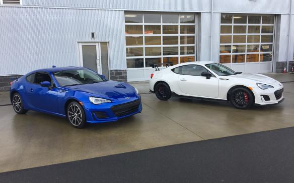 <p>Subaru BRZ with Subaru BRZ tS</p>
