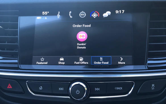 <p>Buick Regal Sportback touchscreen</p>