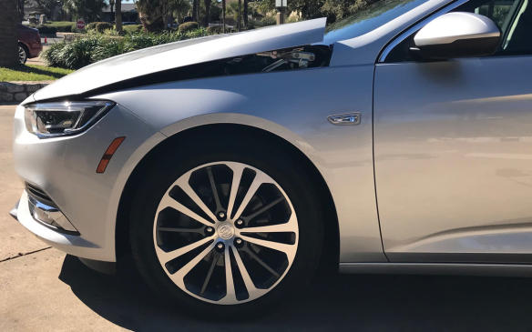 <p>Buick Regal Sportback pedestrian crash protection</p>
