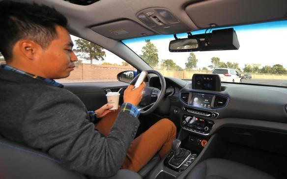 <p>Hyundai IONIQ autonomous driving</p>