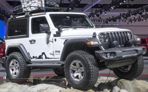 <p>2018 Jeep Wrangler on display</p>