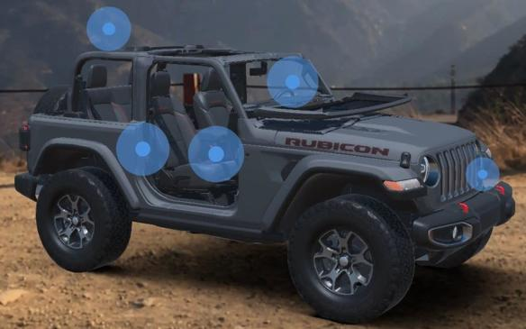 <p>Jeep Wrangler in Jeep Adventure Reality virtual reality setting</p>