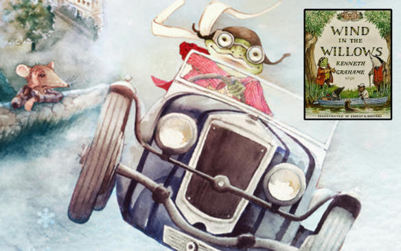 "<p>Ever since the obsessive impulsive Mr. Toad first laid eyes on the horseless carriage, the world of literature has been enamoured by the automobile, with some protagonists known as much for their cars as for their actions, and in some cases the cars themselves the centrepiece of a story. In The Wind in the Willows (1908), Toad becomes obsessed with motorcars when one came upon his horsedrawn carriage and spooked the horse, causing a crash. Toad later steals a car, drives recklessly, crashes it, ends up in hospital and then prison, only to escape and do it all over again … with the same car. It is revealed that in his brief interaction with motorcars, Toad has crashed seven of them, having been hospitalized three times, been imprisoned and paid a fortune in fines.</p> <p><a href=""http://amzn.to/2DeOZXm"">Buy The Wind in the Willows at Amazon.ca</a></p>"