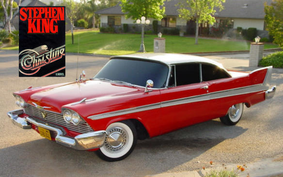 "<p>Of course, if you're going to talk about possessed cars, you have to start with Stephen King's Christine, a 1958 Plymouth Fury with a penchant for murder and the ability to repair itself to not show any clues to the crimes. The car is possessed by the spirit of its owner Roland LeBay, whose daughter choked to death in the back seat and whose wife committed suicide by carbon monoxide in the front seat. The owner sells the car to nerdy teen Arnie Cunningham for a pittance, and then dies, reportedly transferring his spirit to the car, and then into Arnie himself, who changes his appearance to look more like LeBay, while also acquiring a more arrogant personality. (Credit: Wikipedia/Hylnder777)</p> <p><a href=""http://amzn.to/2r2at4Z"">Buy Christine by Stephen King at Amazon.ca</a></p>"