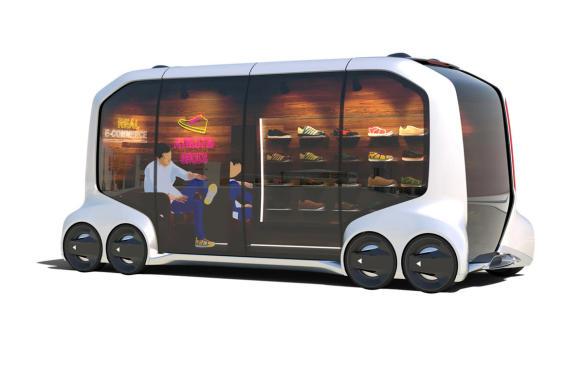 <p>Toyota e-Palette Concept mobile-shoestore</p>