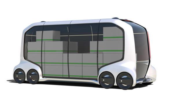 <p>Toyota e-Palette Concept delivery-vehicle</p>