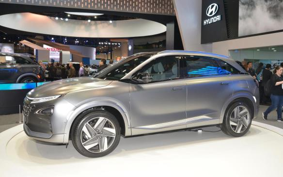 """<p>Improving on what it achieved in fuel cell technology with the Tucson FCEV, Hyundai has decided to take the fuel cell electric vehicle upmarket and created <a href=""""https://autofile.ca/en-ca/auto-news/hyundai-to-unveil-next-gen-fcev-at-ces"""" rel=""""noopener noreferrer"""" target=""""_blank"""">NEXO, the technological flagship of the Hyundai crossover stable</a>when it becomes available in select markets around the world in early 2018. NEXO has an estimated driving range of 595 km (169 more than Tucson), all while boosting overall performance through improved acceleration and increased power.</p>"""