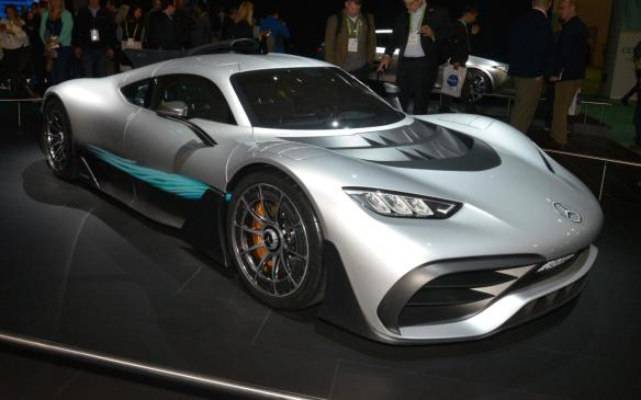 <p>The Mercedes-AMG Project ONE is a 2-seat ultra-performance car using Formula 1 hybrid technology to produce a sleek, aerodynamically-excellent coupe that combines day-to-day driving ability with outstanding race-track performance, delivering 986 hp and capability to reach 350 km/h.</p>