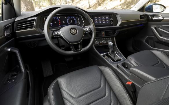 <p>2019 Volkswagen Jetta interior</p>