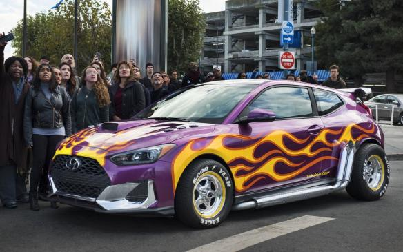 <p>2019 Hyundai Veloster on set of Ant-Man and The Wasp</p>