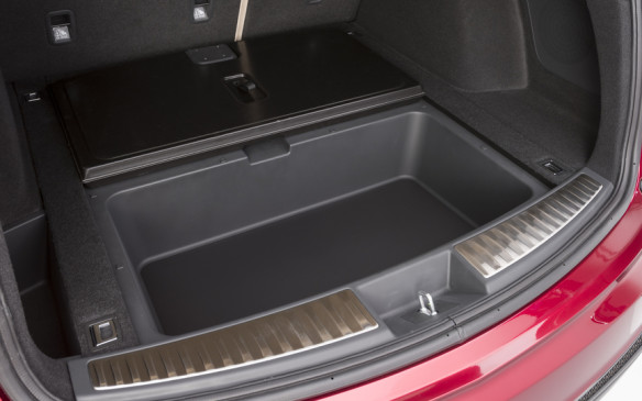 <p>Acura RDX Prototype cargo area underfloor bin</p>