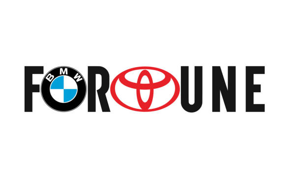 Fortune logo with BMW and Toyota logos inset