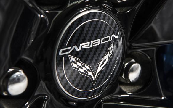 <p>2018 Chevrolet Corvette Carbon65 Edition badge</p>
