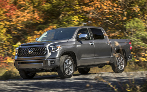 <p>Despite a half-hearted restyling in 2014, Toyota's Tundra light-duty pickup continues to roll on with much the same chassis, powertrain and suspension hardware it's always had. That's seen as a liability in the highly competitive full-size truck class, a segment that the Detroit Three have defended vehemently. Nevertheless, the Tundra has become a formidable force with its outsized presence – some owners grouse that the truck is too big – and renowned dependability. In this application, having an aging V-8 powertrain is not so much a burden as it is a strength and a testament to the truck's enduring ways.</p> <p>Toyota forfeited any fuel-efficiency boasts by terminating the smallish base V-6 in 2015 and doubling down on V-8 power. Both the 4.6-L and 5.7-L engines work through a conventional automatic transmission with just six forward gears. The ride and handling hark back to the Bush administration and the cabin furnishings are dated and plasticky. In reality, not much has changed since the Tundra was introduced in 2007. So why buy it? As many owners will attest, the Tundra is a true work truck that rises to the occasion without being fussy. If you're counting on your truck for your livelihood, dependability – and not embossed leather seating – is what keeps you in business</p>
