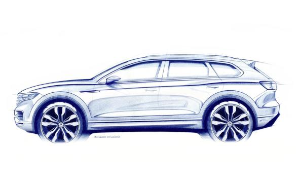 Sketch of new Volkswagen Touareg