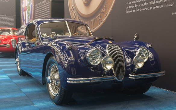 <p>The first SS Jaguar, introduced in 1935, had no ferocious feline mascot to match its name. But the graceful <em>Leaper</em>, as the sculpted three-dimensional mascot we now know wascalled internally, has represented the brand in various two- and three-dimensional forms since 1938, complemented at times by a toothy relief-sculpted frontal view of the fearsome cat, known as the <em>Growler</em>, as seen on this car.</p>