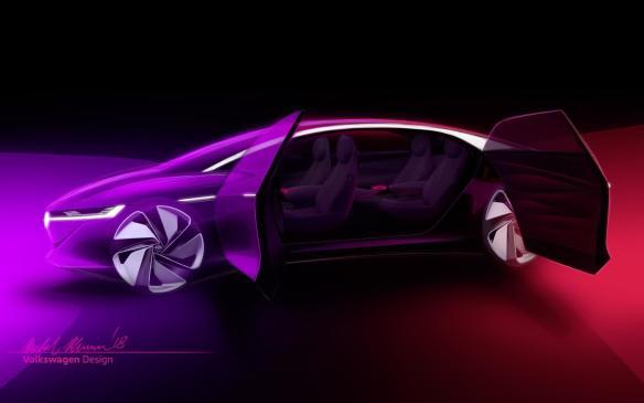 <p>Volkswagen I.D. VIZZION sketch</p>