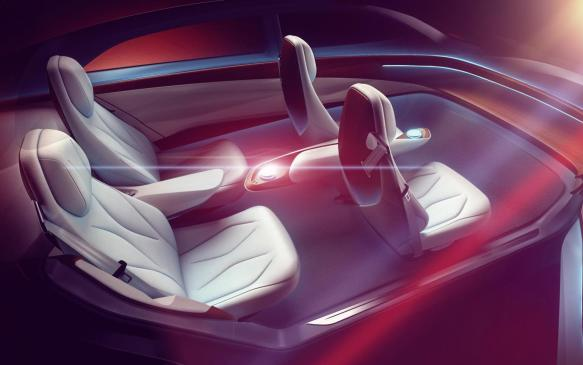 <p>Volkswagen I.D. VIZZION interior sketch</p>