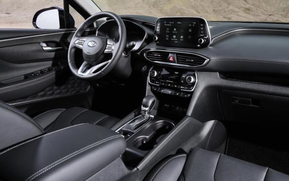 <p>2019 Hyundai Santa Fe interior</p>
