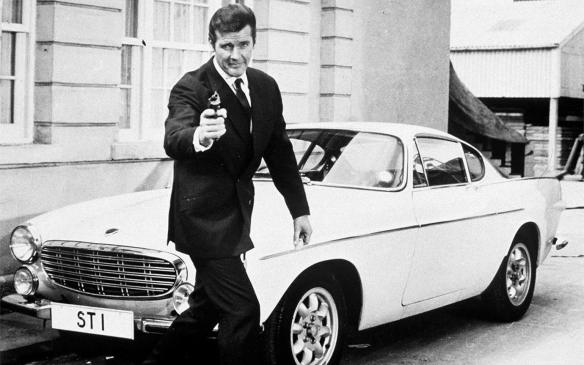 <p>Roger Moore in The Saint with Volvo 1800 S</p>