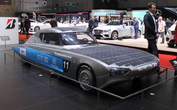 <p>Just in time for global warming, the thyssenkrupp blue.cruiser placed second in the cruiser class of the 2017 Bridgestone World Solar Challenge across Australia. It gets hot in that car when the sun is shining, which is the only time it will travel any distance, so its drivers might prefer to be in the Belcar of the previous photo.</p>