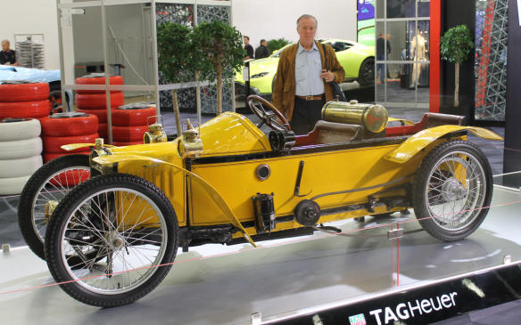 <p>And then, the Aventador of its day in 1911, a Super cyclecar from France's H. Godefroy et Lévêque developed 9 hp from its V-twin 964 cc engine and could reach a top speed of 80 km/h. It has a wooden chassis and a belt drive, and of the 26 made, this immaculately restored example is almost certainly the only one left in existence.</p>