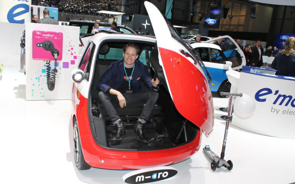 """<p>And then there's the Microlino, which its makers call """"the iPad of the mobility world."""" The little 3-wheeler is intended to combine the advantages of a car with those of a motorcycle – comfortable and dry, while getting through narrow streets, and parking easily. It's completely electric with a range of up to 215 km, and it's a modern homage to the original Isetta bubble car. Yours for €12,000 (about $19,000).</p>"""